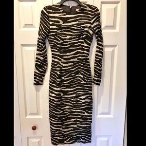 Michael Kors zebra midi dress
